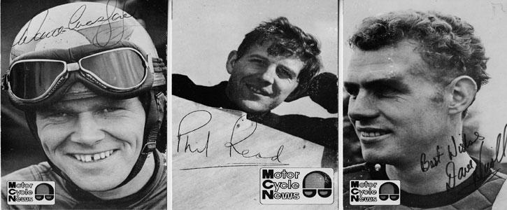 Motor Cycle News memorabilia signed postcards Phil Read memorabilia Dave Croxford memorabilia Dave Nicoll memorabilia Sports motorcycling memorabilia