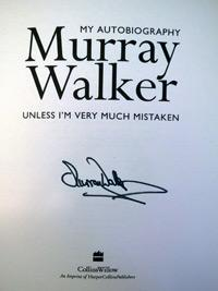 MURRAY WALKER (F1  TV Commentator) signed autobiography