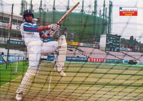 NASSER-HUSSAIN-autograph-signed-Essex-cricket-memorabilia-England-test-match-captain-batsman-nets-batting-practice-oval-ground