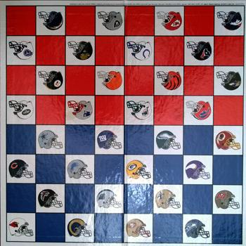 NFL-memorabiliua-checkers-board-game-cleveland-browns-american-football