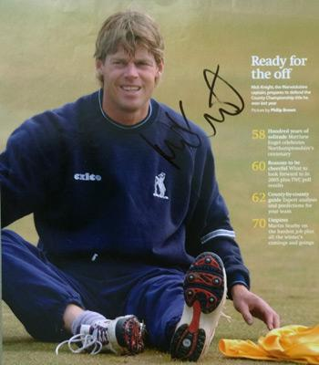 NICK-KNIGHT-autograph signed-England-cricket-memorabilia-Sky-Sports-Warks-Surrey-ccc