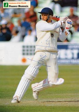 Nasser-Hussain-autograph signed Essex Cricket-memorabilia-signed-Essex-CCC-Cricketer-posters-England-test-match-captain