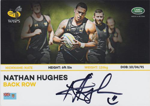 Nathan-Hughes-autograph-Nathan-Hughes-memorabilia-signed-Wasps-rugby-memorabilia-union-england-rufc-team-bio-card-career-fixtures-WRUFC-number-8