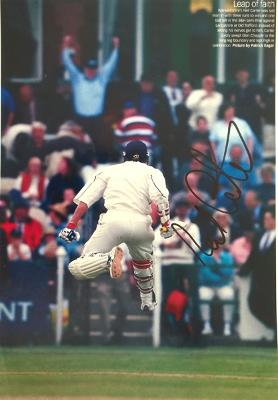 Neil-Carter-autograph-signed-Warwickshire-cricket-memorabilia-Warks-ccc-county-2002-benson-and-hedges-cup-semi-final-lancashire-old-trafford-winning-hit-leap-of-faith