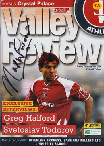 Neil-Warnock-autograph-signed-Crystal-Palace-football-memorabilia-manager-eagles-charlton-athletic-valley-review-programme-2008-cpfc-soccer-signature