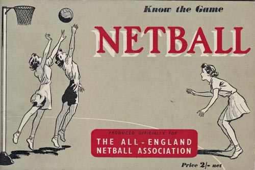 Netball-memorabilia-Know-the-game-book-booklet-1951-first-edition-rules-regulations-history