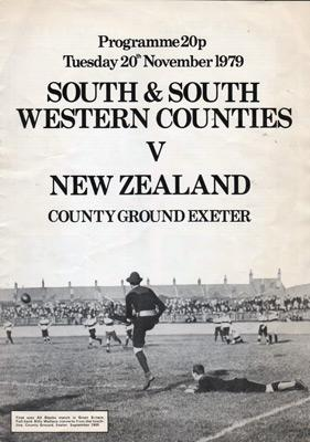 New-Zealand-rugby-memorabilia-signed-nov-1979-england-tour-programme-exeter-south-and-southwestern-counties-bernie-fraser-autograph-andy-dalton-signature-all-blacks