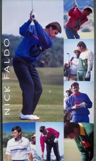 Nick-Faldo-memorabilia-Nick-Faldo-autograph-signed-golf-memorabilia-Pringle-collection-golfing-poster-Nick-Faldo-collection-signature-Masters-British-Open-champion-Ryder-Cup