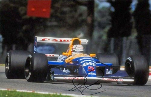 Nigel-Mansell-autograph-signed-formula-one-memorabilia-motor-racing-williams-red-5-world-champion-gp-signature