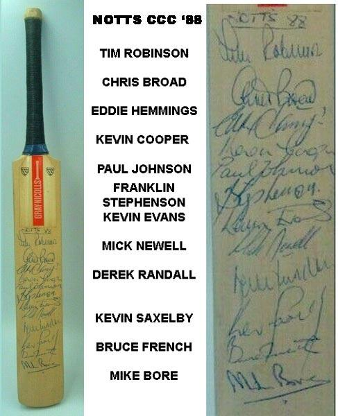 Notts-CCC-cricket-memorabilia-1988-signed-gray-nicolls-mini-bat.-derek-randall-autograph-chris-broad-franklin-stephenson-nottinghamshire