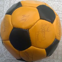 Old Maidstone-United-football-memorabilia-stones-autograph-signed-ball-soccer-team-squad-1980s-1897-1992-watling-street-dartford
