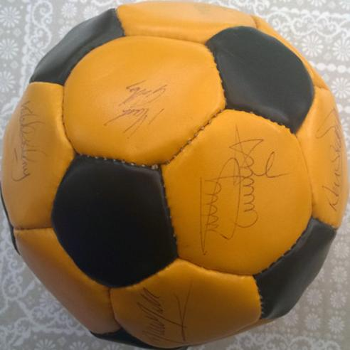 Old Maidstone United football memorabilia stones signed ball autograph team squad 1980s 1897 1992 soccer watling street dartford