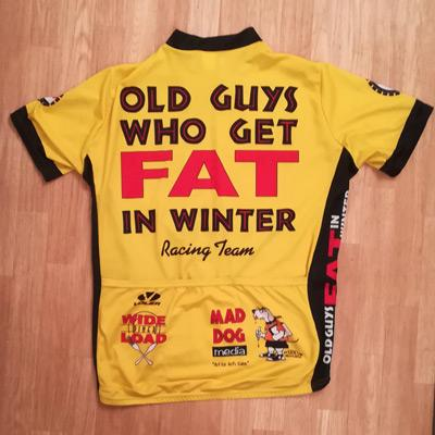 Old-Guys-Who-Get-Fat-in-the-winter-cycling-team-v1-jersey-voler-usa-memorabilia-spare-tire-ale-wide-load-diner-mad-dog-media-yellow-Patrick-OGrady-cartoon-1989-velonews