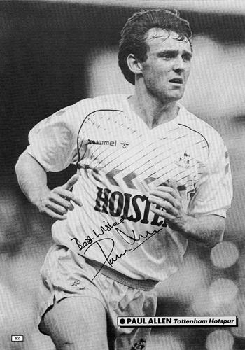 PAUL-ALLEN-memorabilia-autograph-tottenham-hotspur-spurs-fc-signed-football-photo-poster