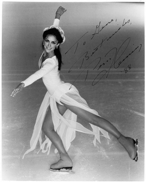 PEGGY FLEMING autograph signed promotional photo ice skating memorabilia winter olympic champion