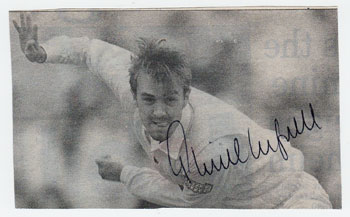 PHIL-TUFNELL-memorabilia-signed-newspaper-pic-Middx-England-Test-cricket-memorabilia-350