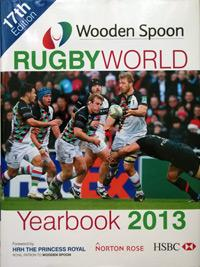 PHIL-VICKERY-memorabilia-signed-book Rugby-World-2013-yearbook-Raging-Bull-memorabilia-Wooden-Spoon-charity-autograph