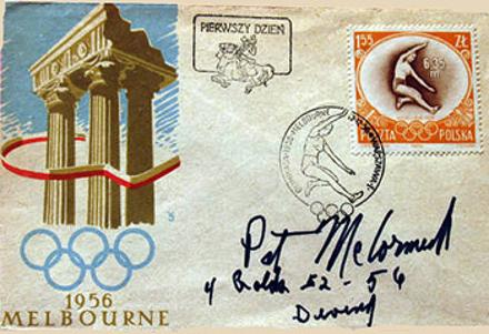 pat mccromack autograph signed olympic diving memorabilia fdc first day cover