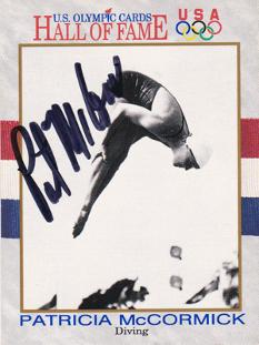 Pat-McCormick-signed-US-Olympic-diving-card-gold-medal-champion-autograph