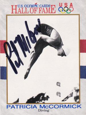 patrticia mccormick autograph signed olympic diving memorabilia half of fame usa