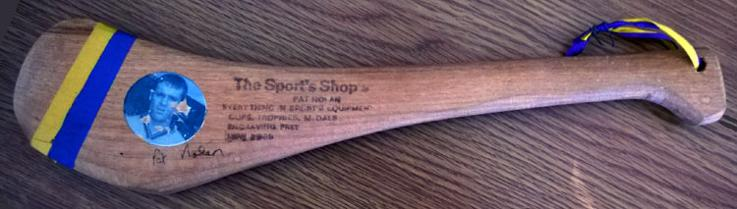 PAT NOLAN (two-times All-Ireland Hurling champion goalkeeper) signed Wexford mini-hurling stick GAA memorabilia