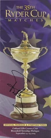 PAUL CASEY Signed 35th Ryder Cup  Official Pairings & Start Times booklet.