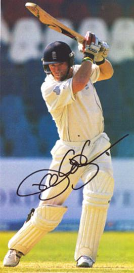 Paul-Collingwood-autograph-signed-England-cricket-memorabilia-all-rounder-Durham-CCC-2005-Ashes-Brigadier-Block-Colly