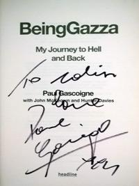 Paul-Gascoigne-autograph-signed-autobiography-Being-Gazza-Spurs-Newcastle-Lazio