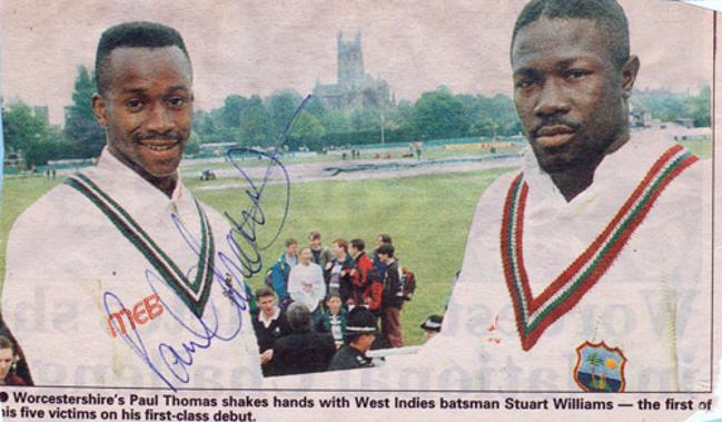 Paul-Thomas-autograph-signed-worcs-ccc-cricket-memorabilia-worcestershire-fast-bowler-west-indies-debut-5-for-70-new-road-derbys-signature