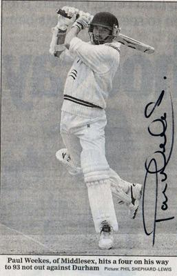 Paul-Weekes-autograph-signed-Middlesex-cricket-memorabilia-Middx-CCC-county-off-spin-bowler-spinner-batsman-all-rounder