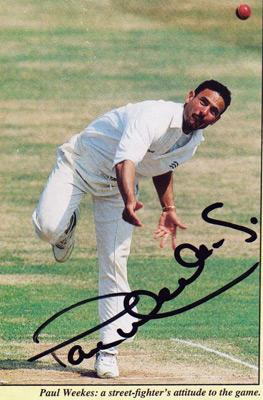 Paul-Weekes-autograph-signed-Middlesex-cricket-memorabilia-Middx-CCC-county-off-spin-bowler-spinner
