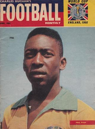 Pele-football-charles-buchan-memorabilia-soccer-monthly-magazine-1966-preview-brazil-brasil-world-cup