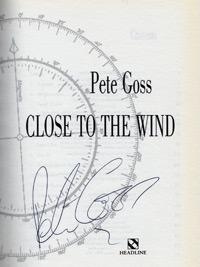 PETE GOSS (Round the World sailor) signed autobiography