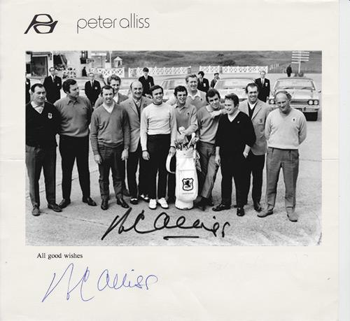 Peter-Alliss-autograph-signed-1969-Ryder-Cup-golf-memorabilia-personal-letter-head-gb ireland team-photo-Royal Birkdale tie-signature