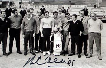 1969 Ryder Cup team photo signed Peter Alliss Jacklin Huggett Gallagher Coles Birkdale