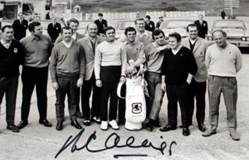 PETER ALLISS signed 1969 Ryder Cup team photo.
