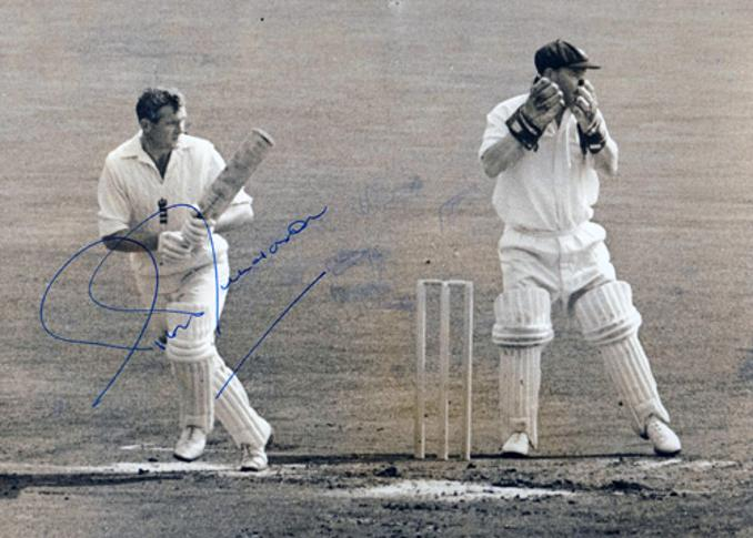 Peter-Richardson-autograph-signed-kent-cricket-memorabilia-england-test-opening-batsman-worcs-ccc--Wisden-Cricketers-of-the-Year-1956-Ashes-Press-Photo-signature
