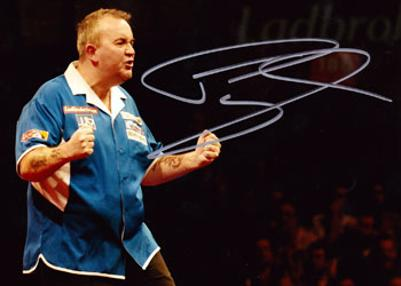 Phil Taylor memorabilia The Power signed PDC memorabilia darts memorabilia photo dart memorabilia BDO memorabilia