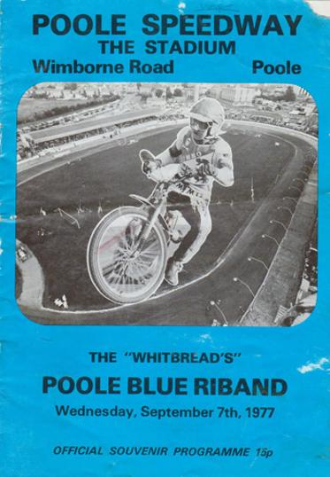 Poole-Speedway-memorabilia-1977-Whitbread-Poole-Blue-Riband-race-night-souvenir-programme-Pirates-Phil-Crump-John-Boulger-Dave-Jessup-Martin-Ashby