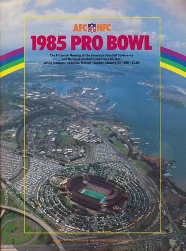 Pro-Bowl-1985-GameDay-Programme-AFC-NFC-All-Star-Game-NFL-Aloha-Stadium-Honolulu-Hawaii-Brochure-Program-Official