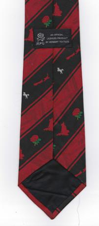 RFU-Official-neck-tie-New-Zealand-rugby-memorabilia-tour-England-rugby-union-memorabilia-Herbert-Textiles-blue-red-silk-polyester-neckwear-clothing-Kiwi-All-Blacks-memorabilia