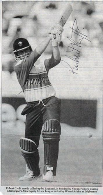 ROBERT-CROFT-autograph-signed-Glamorgan-cricket-memorabilia-England-crofty-captain-coach-glams-ccc-wales-dragons-one-day