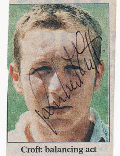 ROBERT-CROFT-autograph-signed-Glamorgan-cricket-memorabilia-England-crofty-captain-coach-glams-ccc-wales-dragons-young-early-pic-youth
