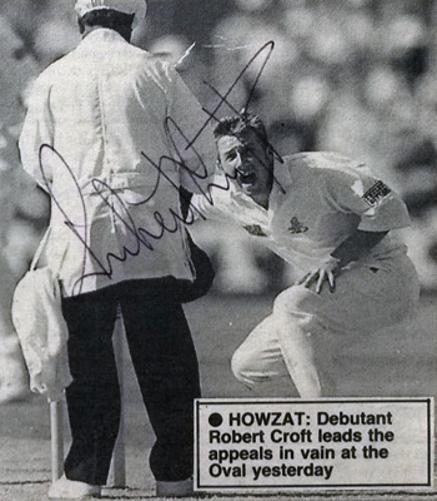 ROBERT-CROFT-autograph-signed-Glamorgan-cricket-memorabilia-England-cricket-memorabilia-crofty-captain-coach-glams-ccc-wales