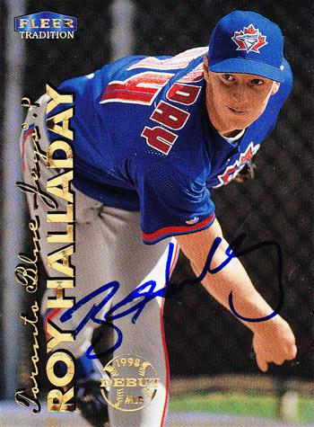 ROY-HALLADAY-autograph-Toronto-Blue-Jays-memorabilia-signed-trading-card-Fleer-Cy-Young-Perfect-Game-autographed