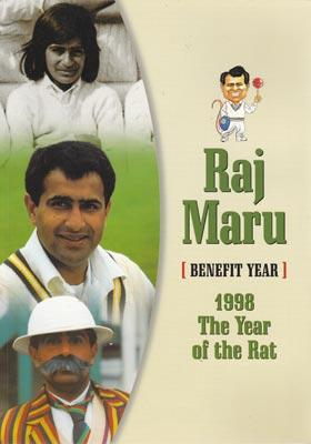 Raj-Maru-1998-benefit-year-brochure-year-of-the-rat-testimonial-hampshire-cricket-memorabilia-hants-ccc-rajesh