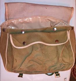 Relum-sports-fly-fishing-shoulder-bag-green-canvas-waterproof-inner-coarse-angling-vintage