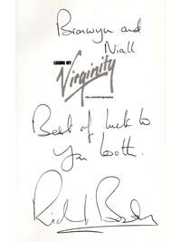 RICHARD BRANSON (founder of Virgin) signed autobiography