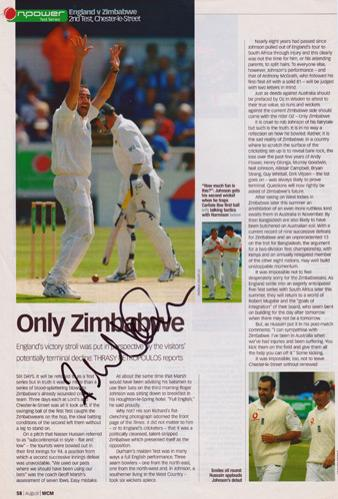 Richard-Johnson-autograph-signed-Middlesex-cricket-memorabilia-Middx-CCC-county-fast-bowler-ten-10-wickets-England-test-match-cap-zimbabwe-tour