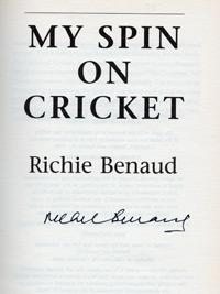 RICHIE BENAUD (Australia) signed copy of